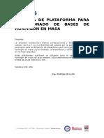 Memoria - Plataforma Para Hormigonado de Bases en Hormigón en Masa