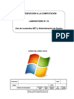 Lab 10 - Uso de Comandos NET y Administración de Equipo