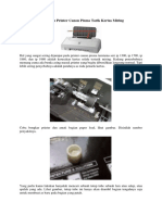 Kerusakan Printer Canon Pixma Tarik Kertas Miring