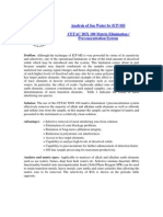 Analysis of Sea Water - Matrix Elimination