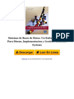 UL0G Sistemas de Bases de Datos Un Enfoque Practico Para Diseno Implementacion y Gestion Database Systems by Thomas m Connolly Carolyn e Begg 8478290753