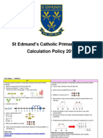 Calculation Policy 2014 Onwards Updated