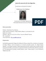 PROYECTO DE INVESTIGACIÓN DE ESTADIA