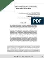 Exames Bioquímicos Relacionados Alterações Renais