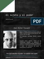 """Exposición sobre """"El sujeto y el poder"""""""