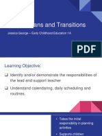 lesson plans and transitions 2