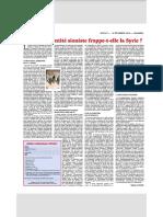 [Rivarol] Pourquoi l'entité sioniste frappe t-elle la Syrie ?