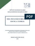 NEE Inclusão e Relação Escola Familia