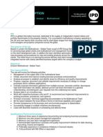 JD Multinational Team - Senior Technical Output Analyst in IPD Template