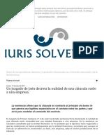 IURIS SOLVENTIA_ Un Juzgado de Jaén Decreta La Nulidad de Una Cláusula Suelo a Una Empresa.(0)