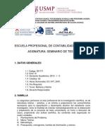 Sílabo Seminario de Tesis i -2013 - i - II