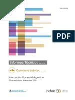 Intercambio Comercial Argentino - Enero 2018