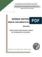 NORMAS EDITORIALES DEL DOCUMENTO DE  TITULACIÓN