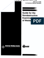 AWSB1.10 Guide for the NDE of Welds