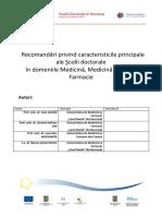 Recomandari Doctorate MEDICINA DRAFT3 2010-01-31