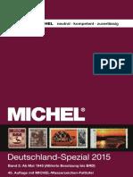 MICHEL Europa Katalog 2015 Band 2 Deutschland-spezial