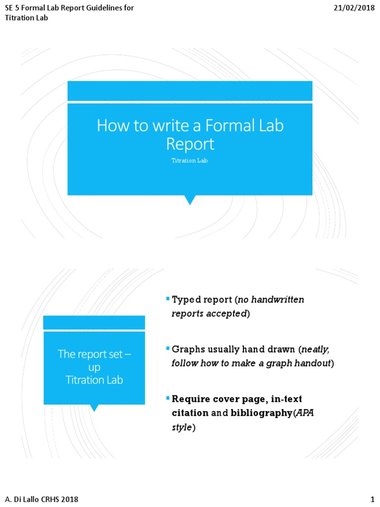 how to make a formal lab report