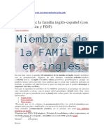 SILA-Miembros de La Familia Inglés-español (Con Pronunciación y PDF)