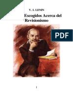 Textos Escogidos Lenin Acerca Del Revisionismo