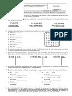 matemáticas- taller