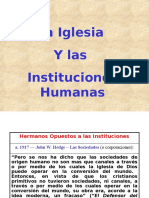 La Iglesia y Las Instituciones Humanas