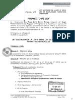 Ley que Modifica la Ley N°28518, Ley de Modalidades Formativas Laborales