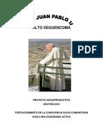 proyecto sociocomunitario productivo de Unidad Educativa PSP