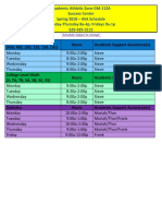 Academic Athletic Zone - Spring 18 ASA Schedule