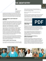 U.S. Army Dental Corps Fact Sheet - Reserve Dentistry
