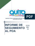 Informe POA Marzo 2016