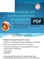 Clase Nº2. Regulación Del PH. Equilibrio Ácido - Base
