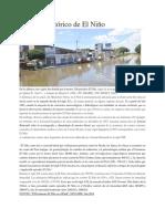 Registro Histórico de El Niño