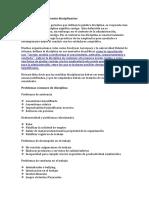 Políticas y procedimientos disciplinarios