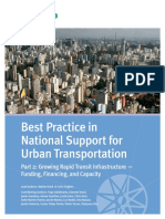 Best Practice in National Support for Urban Transport Part 2 Funding Finance and Capacity