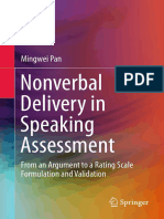 Mingwei Pan (Auth.)-Nonverbal Delivery in Speaking Assessment_ From an Argument to a Rating Scale Formulation and Validation-Springer Singapore (2016)