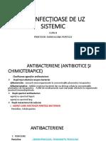 CURS 8- Antiinfectioase de Uz Sistemic
