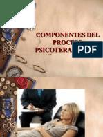 Componentes del Proceso  Psicoterapéutico