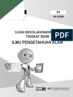 Paket Pbt Ipa 1 Soal