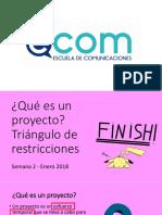 02 Que Es Un Proyecto - Semana 2
