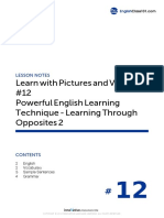 12 Powerful English Learning Technique - Learning Through Opposites 2