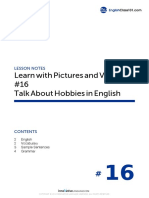 16 Talk About Hobbies in English