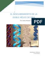 El Descubrimiento de La Doble Hélice de DNA