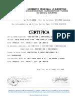 Certificado Gobierno Regional La Libertad