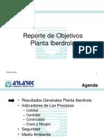 Reporte de Objetivos Planta IBER Feb 09