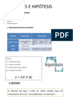 Variables e Hipótesis-metodología