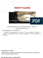 Insolvency of Individuals and Priority of Claims