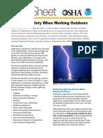 OSHA FS-3863 Lightning Safety 05-2016