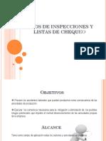 Tipos de Inspecciones y Listas de Chequeo