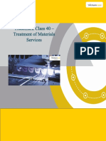 Trademark Class 40 Treatment of Materials Services