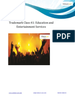 Trademark Class 41 Education and Entertainment Services
